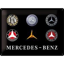Blechschild MERCEDES BENZ Logo 30x40 cm Service Oldtimer NEU/OVP Plakette Emblem