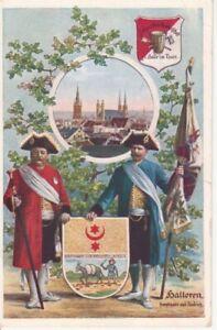 Halle/Saale Panorama Stadtwappen glca.1910 95.739