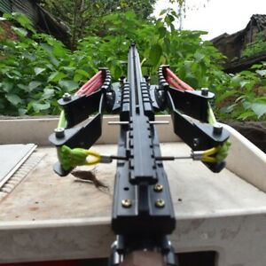 Slingshot Rifle Gun Hunting Catapult Continuous Shooting 40-rounds Ammo Arrow