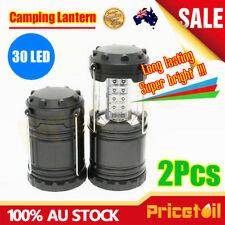 2Pcs New Portable 30 LED Lantern Bivouac Hiking Camping Tent Outdoor Lamp Light
