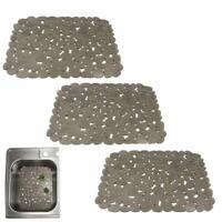 Kitchen Sink Mat/Pad Strainer Protector Hair Stopper Filter PVC Pebble 30*40cm