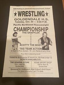 Portland wrestling flyer poster Scotty The Body vs Grappler 11x17