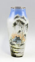 Painted Glass Vase Landscape motif 99835219