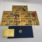 New Type 5 pcs EVA Anime Japanese Gold Banknotes 25th Anniversary for Fans Gift