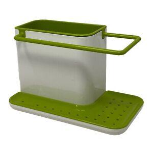 Joseph Joseph Caddy Sink Brush Storage Organiser Drainer Compact Lime Green