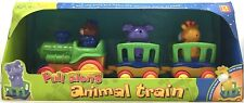Unimax Pull Along Animal Train Playset Toddler Baby Toy Bear Elephant Giraffe 12