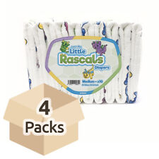 GetNappied Little Rascals (PE Backed) - M - Case - 4 Packs of 10 - ABDL Adult...