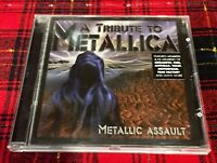 A Tribute To Metallica CD Metallic Assault Cover Megadeth Motorhead Kiss Wasp