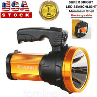 Portable Super Bright LED Searchlight Handheld Spotlight Flashlight Rechargeable