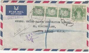 Burma: Registered Airmail Cover: East Asiatic Co, Rangoon-London, 29 Dec 1953