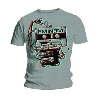 Eminem Tape Cassette Poster Slim Shady Rap Music Official Mens Grey T-shirt