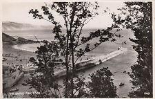 Postcard Looe near Polperro Cornwall view of The Banjo Pier RP by J Salmon