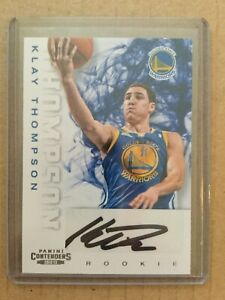 2012-13 KLAY THOMPSON CONTENDERS ROOKIE AUTO CARD 271 GOLDEN STATE WARRIORS