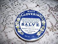 White Cloverine Salve Tin Box