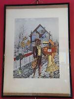 Lithographie de Jacques Prévert 1900 1977 Numérotée Exposition Collages