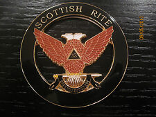 Masonic Scottish Rite 32nd Degree Wings Up Cut Out Car Auto Emblem      N J