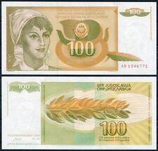 YUGOSLAVIA 100  Dinara Dinares 1990  Pick  105    SC  /  UNC