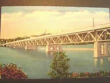 Chippewa Falls WI New Bridge looking North Postcard 1952