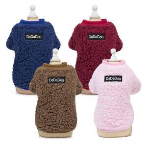 Winter Clothes for Small Medium Pets Dogs Warm Puppy Cat Fleece Vest Coat S-2XL