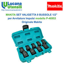 "MAKITA SET VALIGETTA 9 BUSSOLE 1/2"" Avvitatore Impulsi modello P-46953 Originale"
