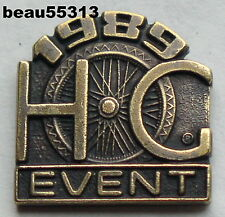 HARLEY OWNERS GROUP HOG 1989 EVENT RALLY VEST JACKET HAT PIN
