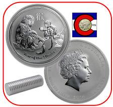 2016 Lunar Monkey 1/2 oz Silver, Series 2, Australia, shrink wrap roll 20 coins