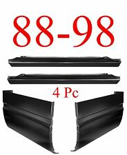 88 98 4Pc Slip-On Rocker & Extended Cab Corner Kit, Chevy GMC Truck 1.2MM Thick
