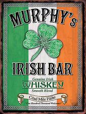 Murphy's Irish Bar, Retro Metal Aluminium Vintage Sign shed Man Cave Pub Beer