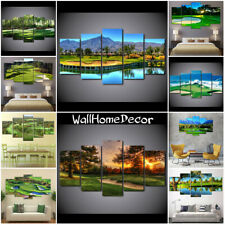 Golf Course Sport Tools 5 Pcs Canvas Wall Art Poster Paint Picture Home Decor