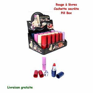 Destockage Rouge à lèvres cachette secrète Pill Box pilbox boite cachette