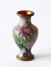 Vaso Antico Cloisonnè Metallo Cinese Oriental Old Ancient Antique Vase H.10,5cm