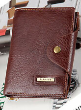 New Men's High Quality PU Leather Wallet Purse with coin pocket - Brown