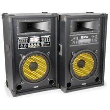 """Altavoces activos auto amplificados SD/USB/MP3 10"""" amplificador 2x400W Set"""