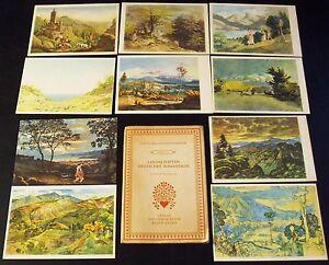 AK Das farbige Meisterwerk Serie 12 Landschaften deutscher Romantiker W.Klein