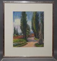Ruth Dolmetsch (1918-2000 Stuttgart) - Pappelallee auf der Reichenau (D229)