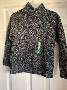Kids jumper knit Zara Boys Jumper 7 Years Knitted Grey Black New