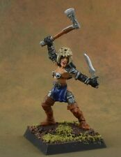 Painted Female Death Cultist warrior from Reaper Miniatures, metal