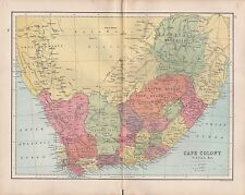 1875 ANTIQUE MAP - SOUTH AFRICA, CAPE COLONY, NATAL &c
