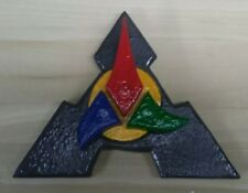 Klingon Inspired Plaque hand carved from wood and hand painted 122318