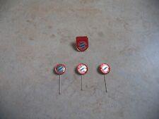 FC Bayern München 3 Anstecknadeln + 1 Pin