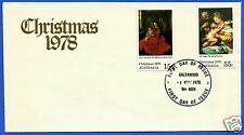 AUSTRALIA, CHRISTMAS 1978, FDC, YEAR 1978