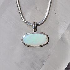 Edel Opal Anhänger, 925er Silber, Edelsteinanhänger (11472), Milchopal