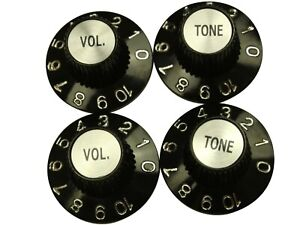 Black witch hat knobs volume, tone, set, imperial size for CTS pots