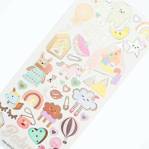 GIRL STICKERS Baby/Kids Craft Birthday Card Scrapbook Decorating Embellishments