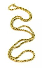 VINTAGE 12K GOLD FILLED TWISTED ROPE CHAIN NECKLACE 24""