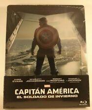 Captain America El Soldado de Inverno Blu-Ray  Steelbook Spain Import  New