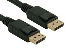 Displayport to Display Port Cable DP Male to Male Cord 4K HD w/ Latches 3ft-25ft