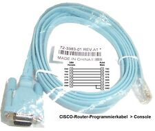 Cisco P/N72-3383-01. 1,5 m Kosolenkabel RJ45-Stecker + D-Sub Seriell 9-polig