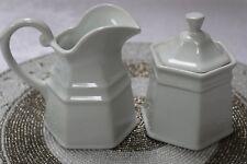 BIA Cordon Bleu Antwerp White Porcelain Creamer and Covered Sugar Bowl - NEW