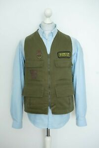 Barbour Fishing Flyfisher Olive Vest Gilet Liner Size M